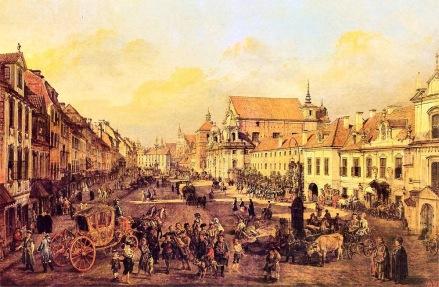 Krakowskie-Przedmieście-od-strony-Placu-Zamkowego-1774