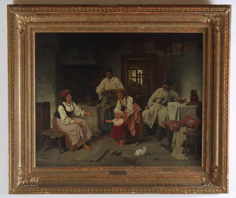 Francizek_Streitt_Interior_Scene_Oil_on_Canvas228_1