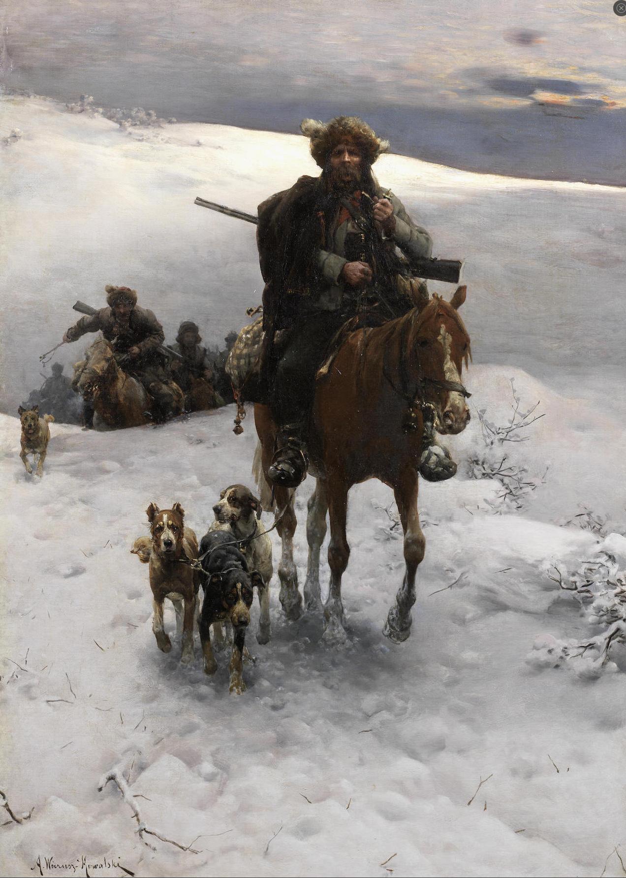 Alfred Wierusz Kowalski 1849 1915 Polish Art Corner